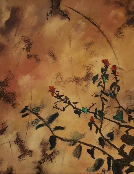 Painting - Seasons End At The Barrio       6 by Cheryl Nancy Ann Gordon