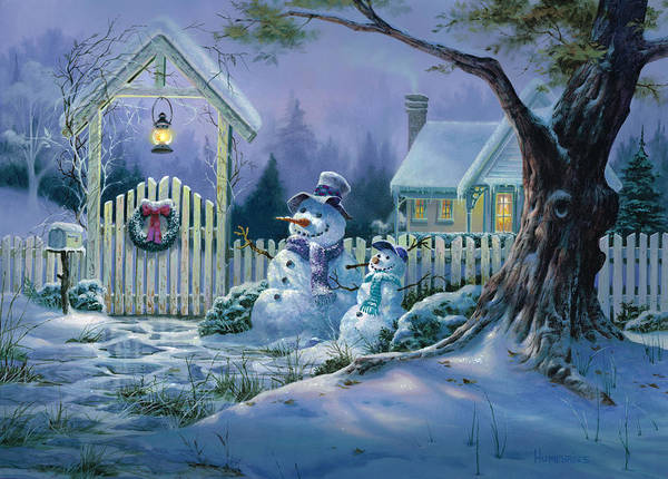 Wall Art - Painting - Season's Greeters by Michael Humphries