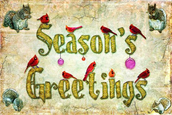 Photograph - Season's Greetings Card by Chris Lord