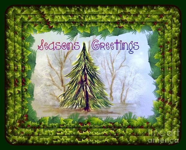 Drawing - Seasons Greetings by David Neace