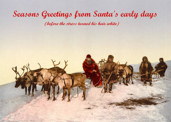 Photograph - Seasons Greetings From A Young Santa by Richard Reeve