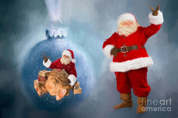 Jolly Holiday Photograph - Seasons Greetings From Santa by Darren Fisher