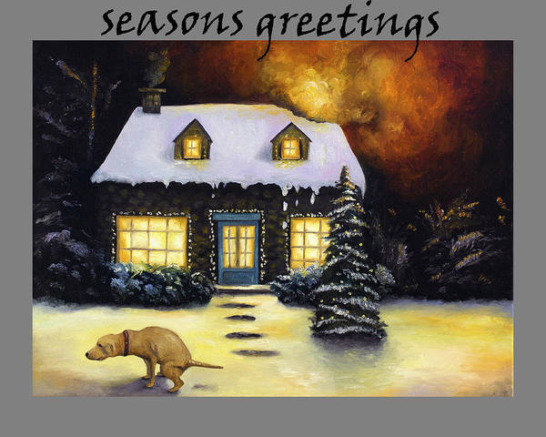 Painting - Seasons Greetings by Leah Saulnier The Painting Maniac