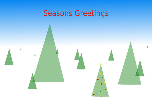 Digital Art - Seasons Greetings by Richard Reeve