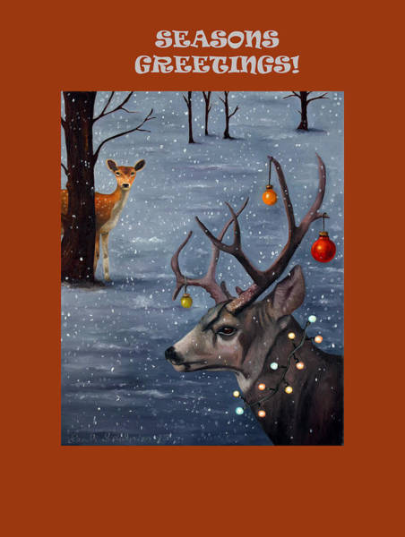 Painting - Seasons Greetings With Seduction by Leah Saulnier The Painting Maniac