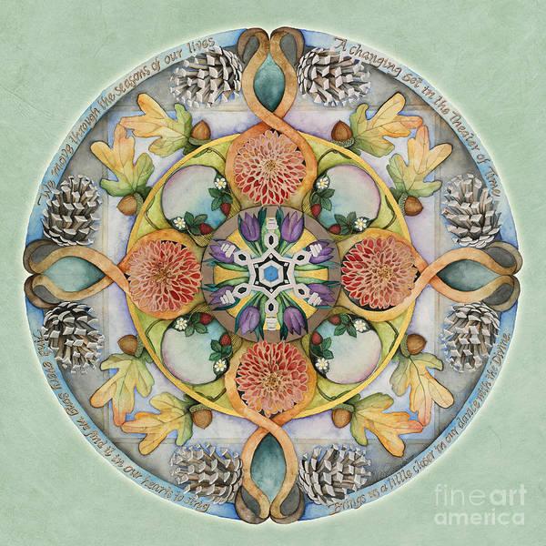 Painting - Seasons Mandala by Jo Thomas Blaine