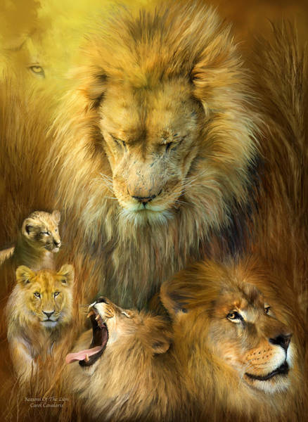 Mixed Media - Seasons Of The Lion by Carol Cavalaris