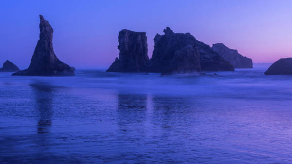 Photograph - Seastack Sunset In Bandon by Brenda Jacobs
