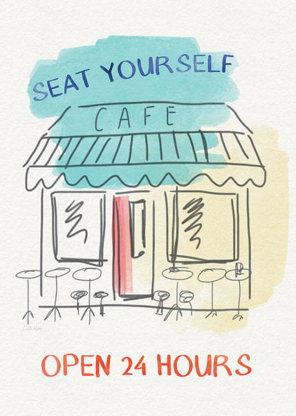 Cafes Wall Art - Painting - Seat Yourself Cafe- Art By Linda Woods by Linda Woods