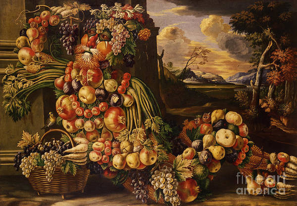Wall Art - Painting - Seated Figure Of Summer, 1573  by Giuseppe Arcimboldo