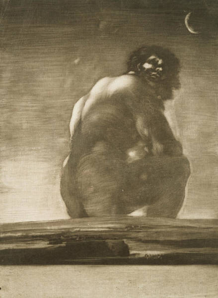 Relief - Seated Giant by Francisco Goya