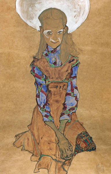 Painting - Seated Girl  by Egon Schiele
