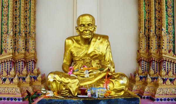 Photograph - Seated Holy Man At Koh Samui by Charlene Mitchell