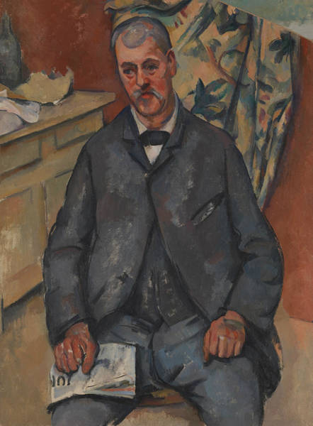 Painting - Seated Man  by Paul Cezanne