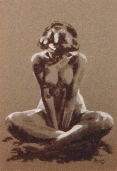 Painting - Seated Nude by Barbara Keith