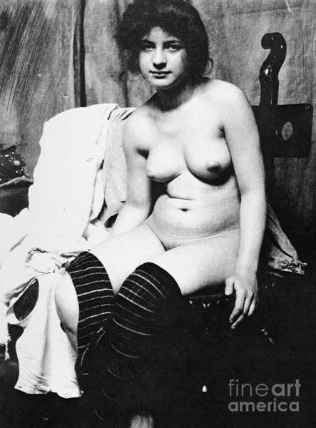 Photograph - Seated Nude, C1910 by Granger