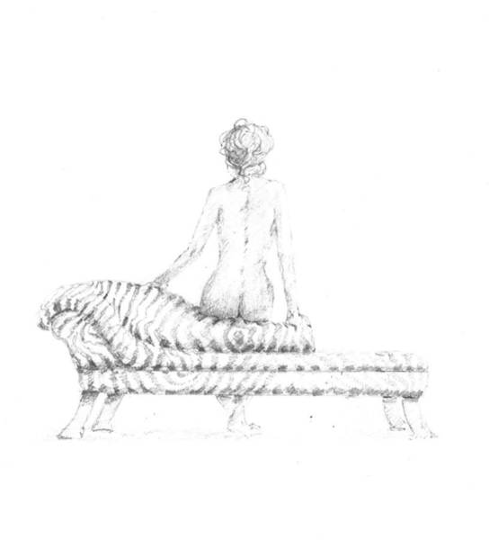 Nudity Drawing - Seated Nude by Lincoln Seligman