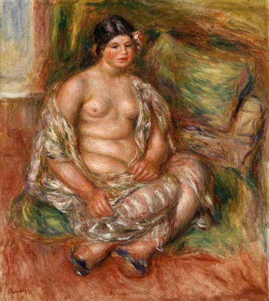 Wall Art - Painting - Seated Odalisque by Pierre-Auguste Renoir