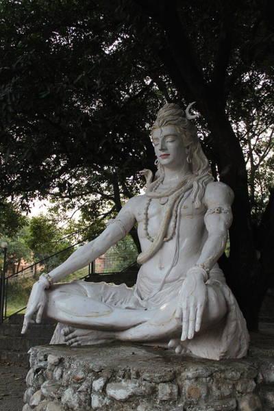 Wall Art - Photograph - Seated Shiva, Rishikesh by Jennifer Mazzucco