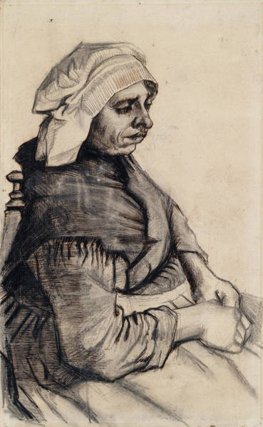 Latina Painting - Seated Woman, 1885 02 by Vincent Van Gogh