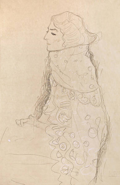 Drawing - Seated Woman by Gustav Klimt