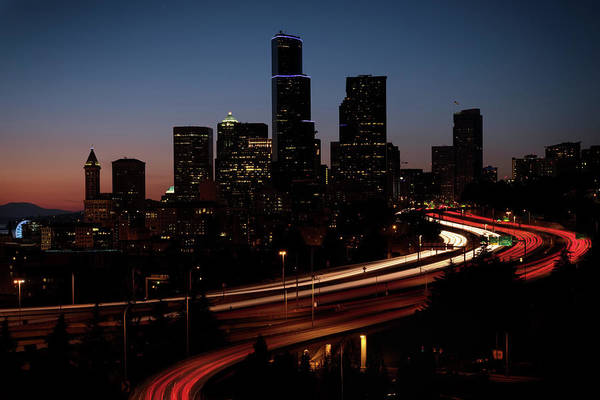 Photograph - Seattle At Dusk by Harold Coleman
