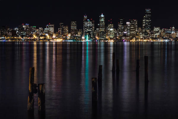 Photograph - Seattle At Night by Ed Clark