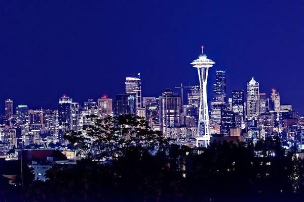 Jasmin Photograph - Seattle At Night by Jasmin Hrnjic