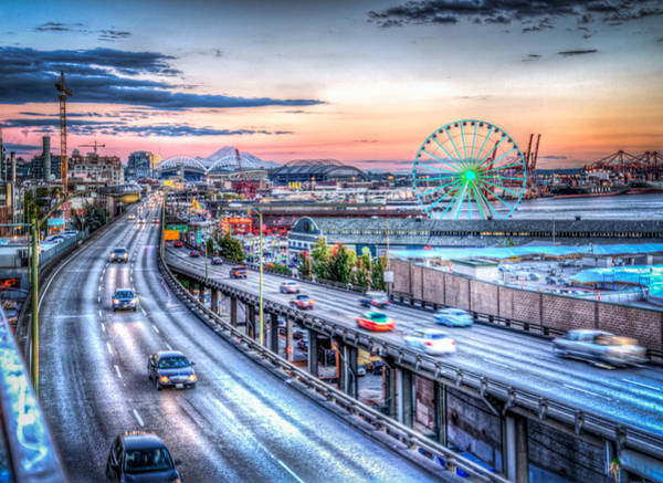 Wall Art - Photograph - Seattle At Twilight by Spencer McDonald