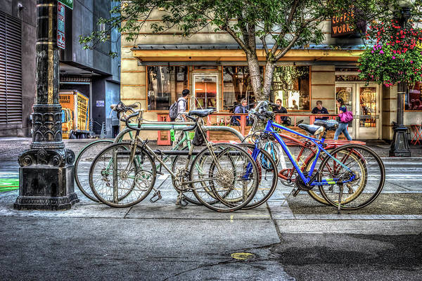 Wall Art - Photograph - Seattle Bicycles by Spencer McDonald