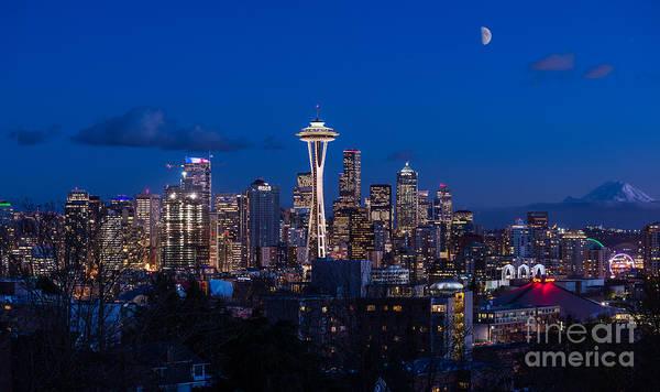 Wall Art - Photograph - Seattle Blues by Jamie Pham