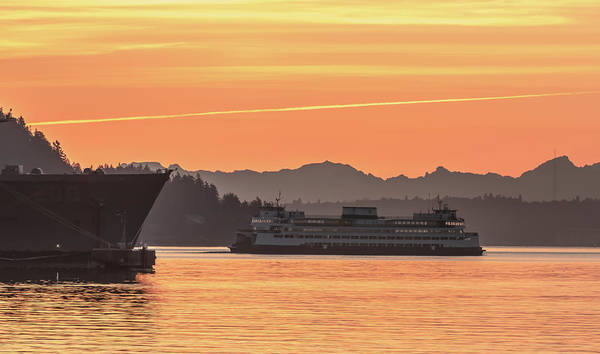 Photograph - Seattle - Bremerton Ferry by E Faithe Lester