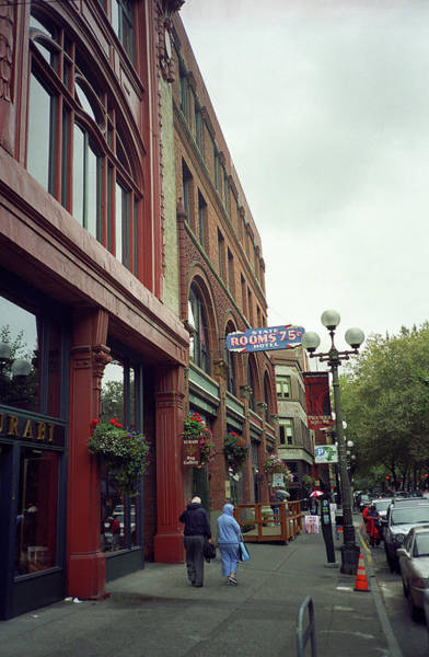 Photograph - Seattle Cheap Hotel by Frank Romeo