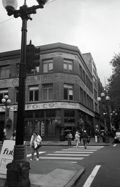 Photograph - Seattle Crossing Bw by Frank Romeo