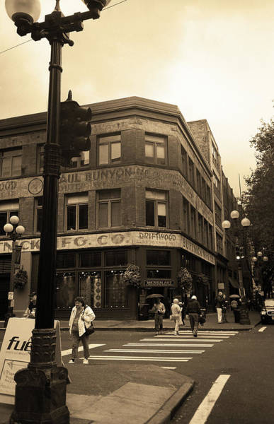 Photograph - Seattle Crossing Sepia by Frank Romeo
