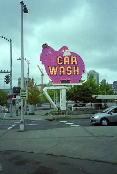 Photograph - Seattle - Elephant Car Wash 2 by Frank Romeo
