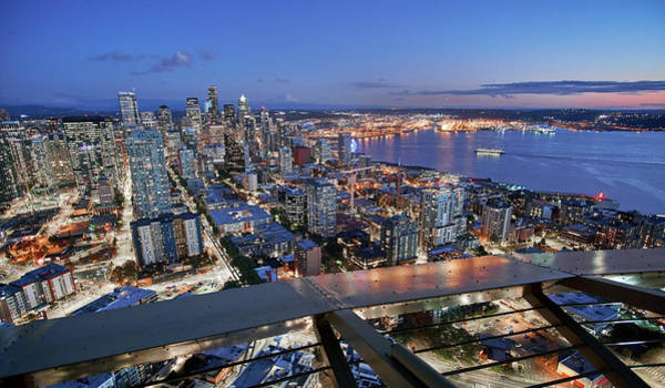 Elliot Bay Wall Art - Photograph - Seattle From The Space Needle by Jim Hughes