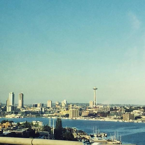 Skyline Wall Art - Photograph - Seattle In The Morning #seattle by Joan McCool