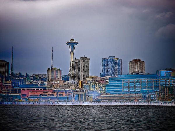 Elliot Bay Wall Art - Photograph - Seattle by Jim DeLillo