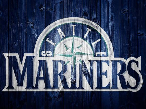 Digital Art - Seattle Mariners Barn Door by Dan Sproul