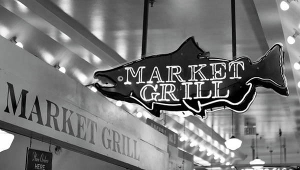Wall Art - Photograph - Seattle Market Grill Fish Sign by Stephanie McDowell