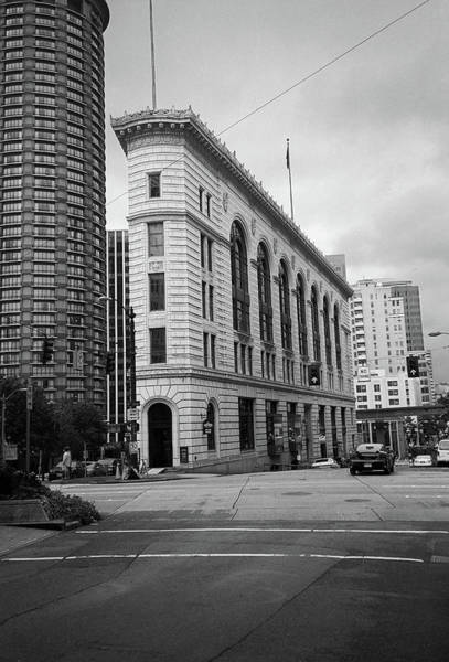 Photograph - Seattle - Misty Architecture 2 Bw by Frank Romeo