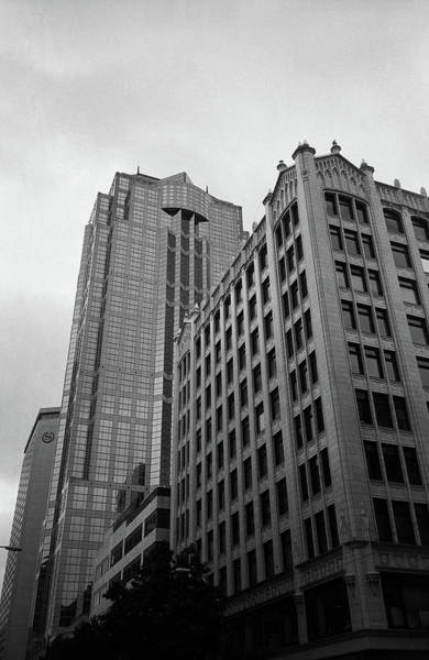 Photograph - Seattle - Misty Architecture 3 Bw by Frank Romeo