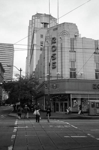 Photograph - Seattle - Misty Architecture 4 Bw by Frank Romeo
