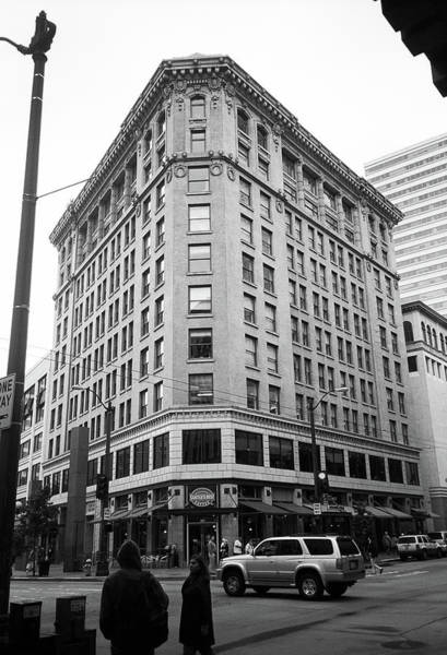 Photograph - Seattle - Misty Architecture Bw by Frank Romeo