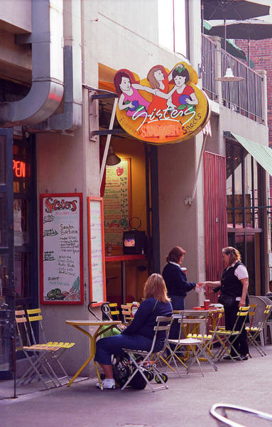 Elliot Bay Wall Art - Photograph - Seattle - Outdoor Cafe by Frank Romeo
