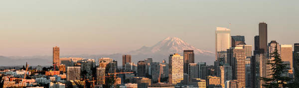 Photograph - Seattle Panorama At Dusk by E Faithe Lester