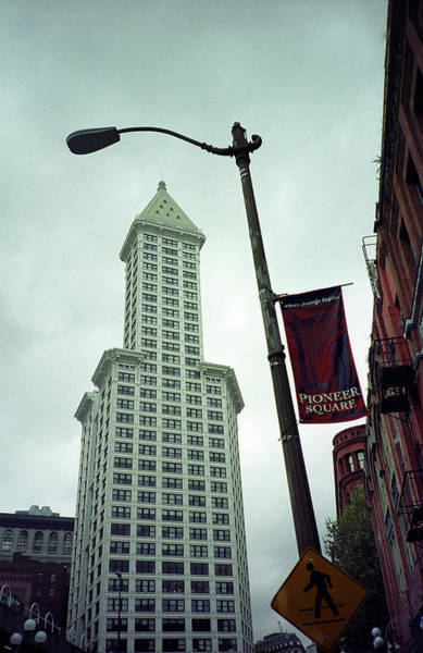Photograph - Seattle - Pioneer Square Tower by Frank Romeo