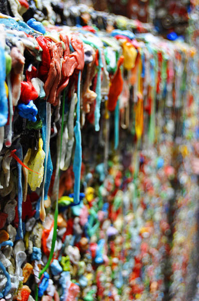 Disgusting Photograph - Seattle Post Alley Gum Wall by Pelo Blanco Photo