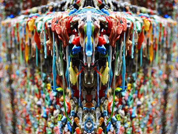 Pikes Place Wall Art - Photograph - Seattle Post Alley Gum Wall Reflection by Pelo Blanco Photo